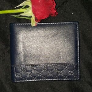 Gucci mens navey blue Wallet